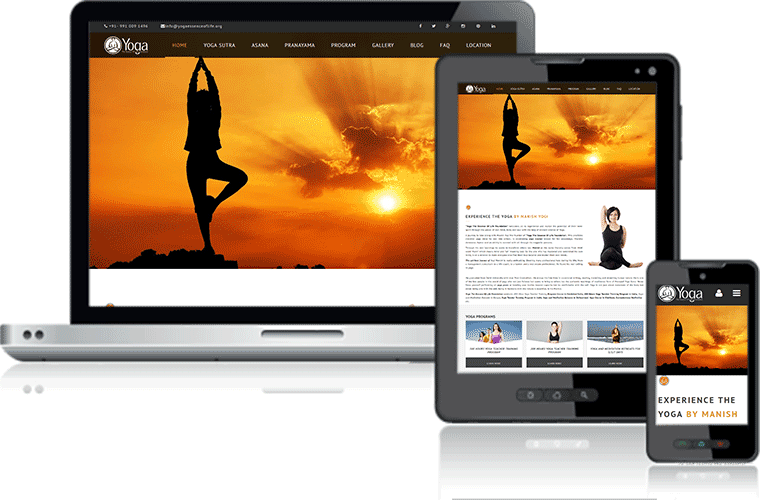 Yoga And Fitness Website Designing and Development Company